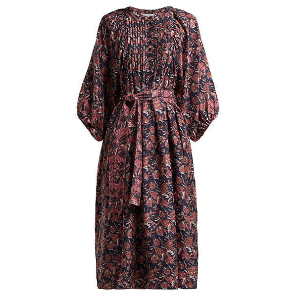 Femek Silk Midi Dress - In The Groove